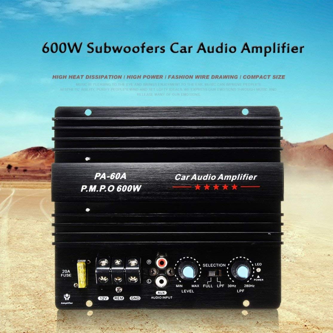12v Mono 600w High Power Car Audio Amplifier Pa 60a Subwoofer Circuit Tda7294 Bass Amp Fashion Wire Drawing Powerful Subwoofers With 20a Fuse Electronics
