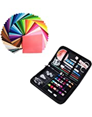 flic-flac Assorted Color Felt Fabric Sheets Patchwork Sewing DIY Craft 1mm Thick with Sewing Kit for Choice