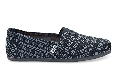 d6b67d22340 Image Unavailable. Image not available for. Colour  TOMS Men s Classic  Tribal Print Black Gray Casual Shoe EU 47 UK ...