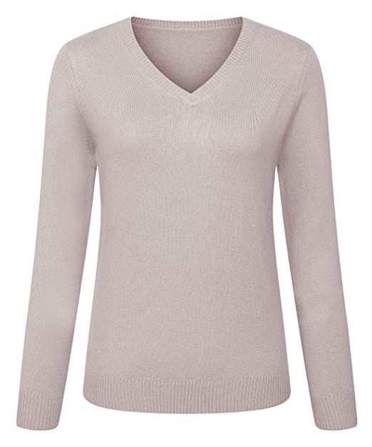 1875959a1 Chartou Women s Sexy V-Neck Cashmere-Like Pullover Knitwear Sweaters Tops  in Colors (