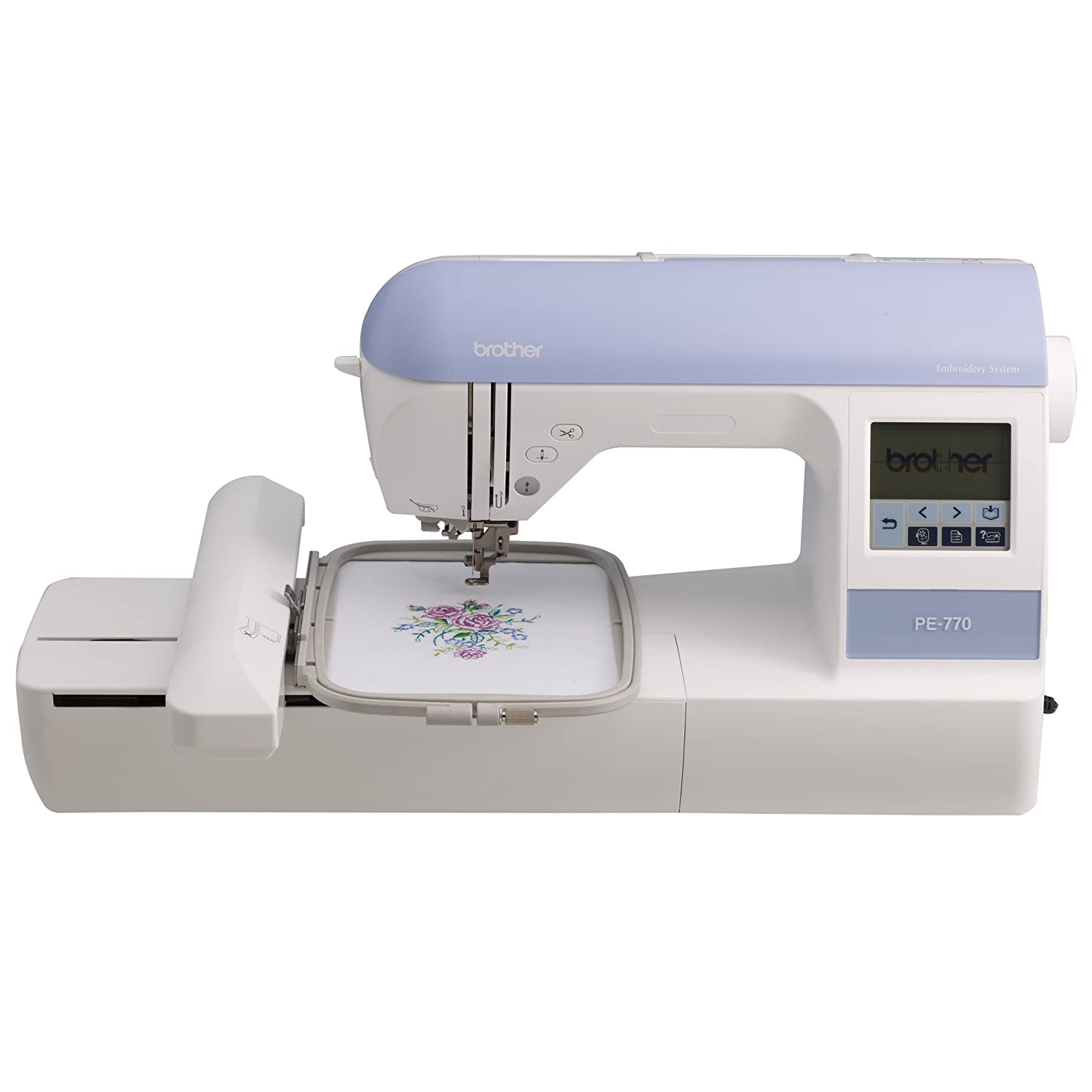 Sibling PE770 5X7 inches Embroidery-only Machine along With Built-in Memory