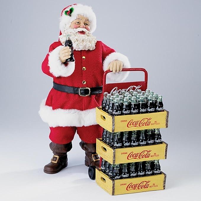 2 piezas Coca-colaâ ® Papá Noel con Entrega carro decoración tablero de la mesa decoración: Amazon.es: Hogar