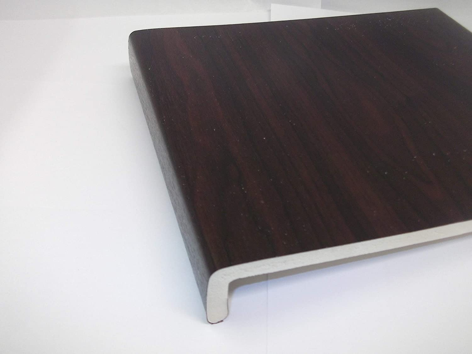 1.25 Metre 200mm Wide Rosewood Plastic PVC UPVC Window Cill Sill Facia Board Innovo