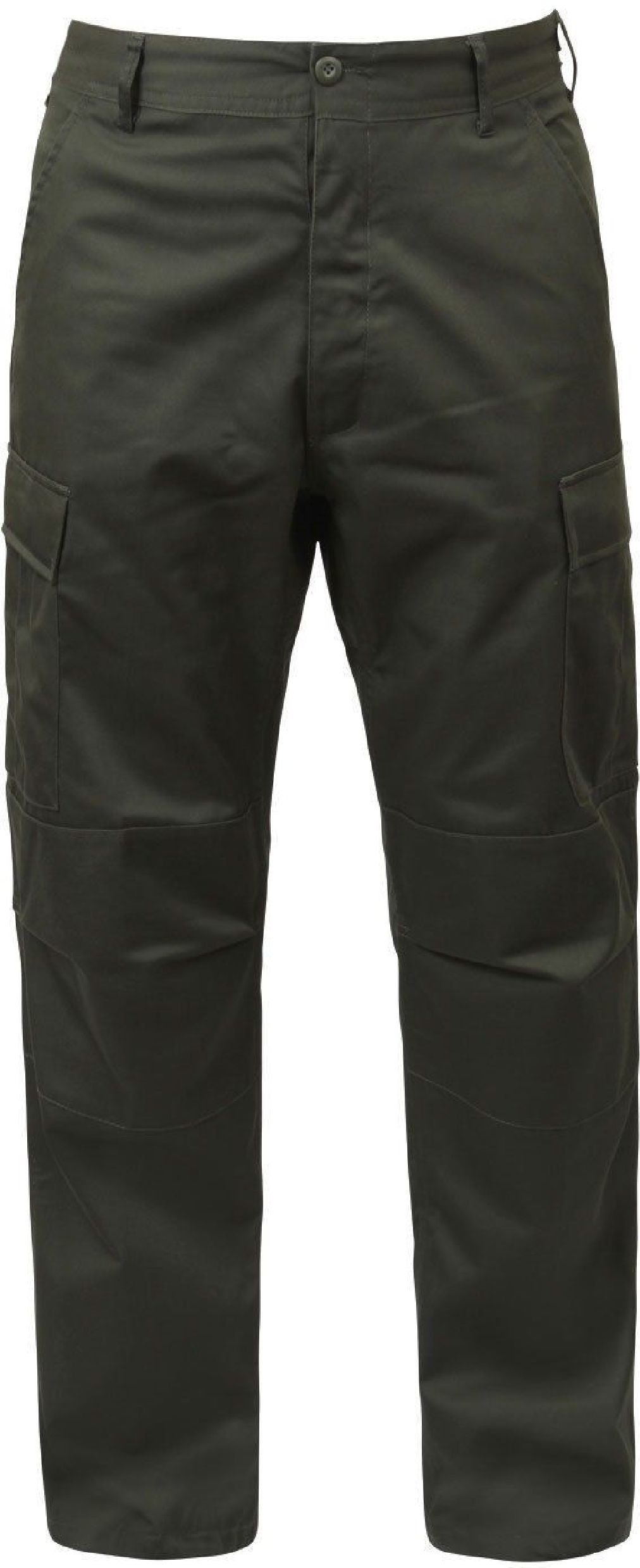 Mens Olive Drab Solid Military BDU Cargo Bottoms Fatigue Trouser Pants by AMYE