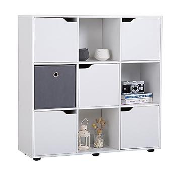 Bücherregal Mit Tür caro möbel bücherregal vermont regal raumteiler 9 fächer davon 5