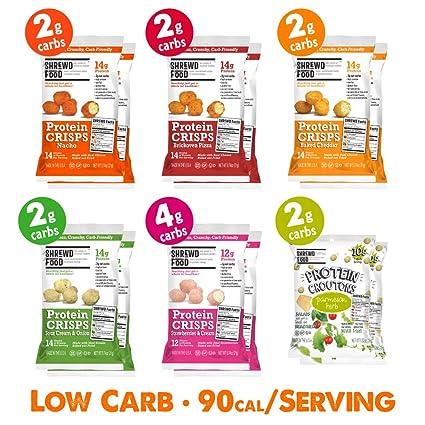 Shrewd Food Keto Proteína Crisps | Alta proteína, bajo en ...