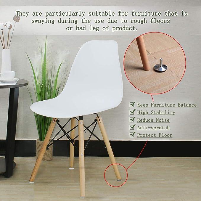 4pcs 43mm Adjustable Furniture Feet Base Leveler Pad Table Leg for Chair