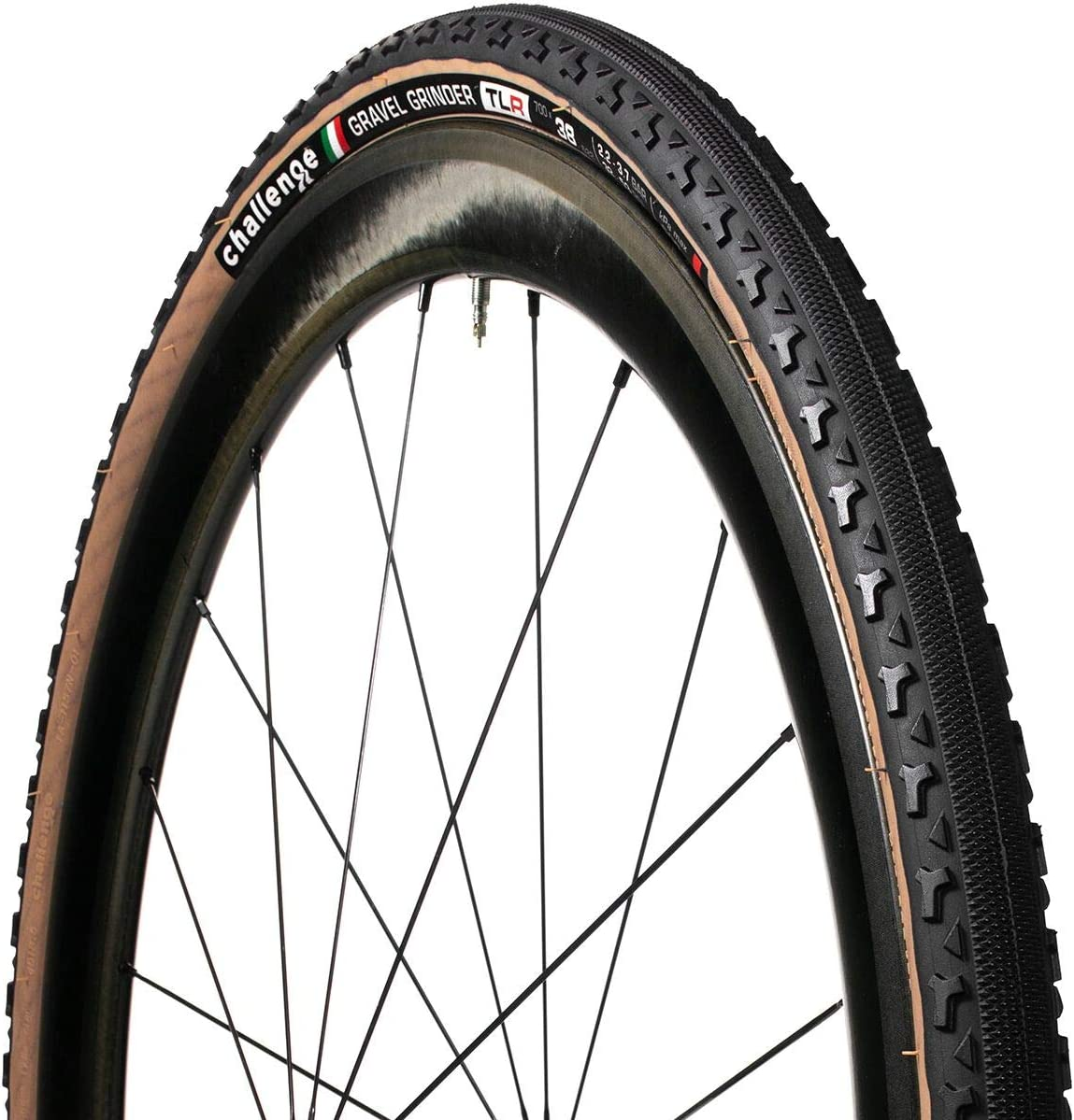 Challenge Gravel Grinder Tubeless Black/Brown Superlight 33 - Neumático para Bicicleta, Unisex, para Adulto, 700 x 33 C: Amazon.es: Deportes y aire libre