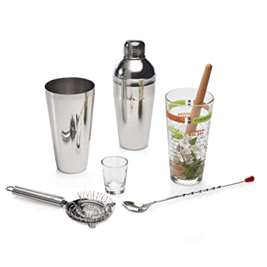 Libbey 80787 Mixologist 9-Piece Cool Cocktails Set, 20 oz, Clear