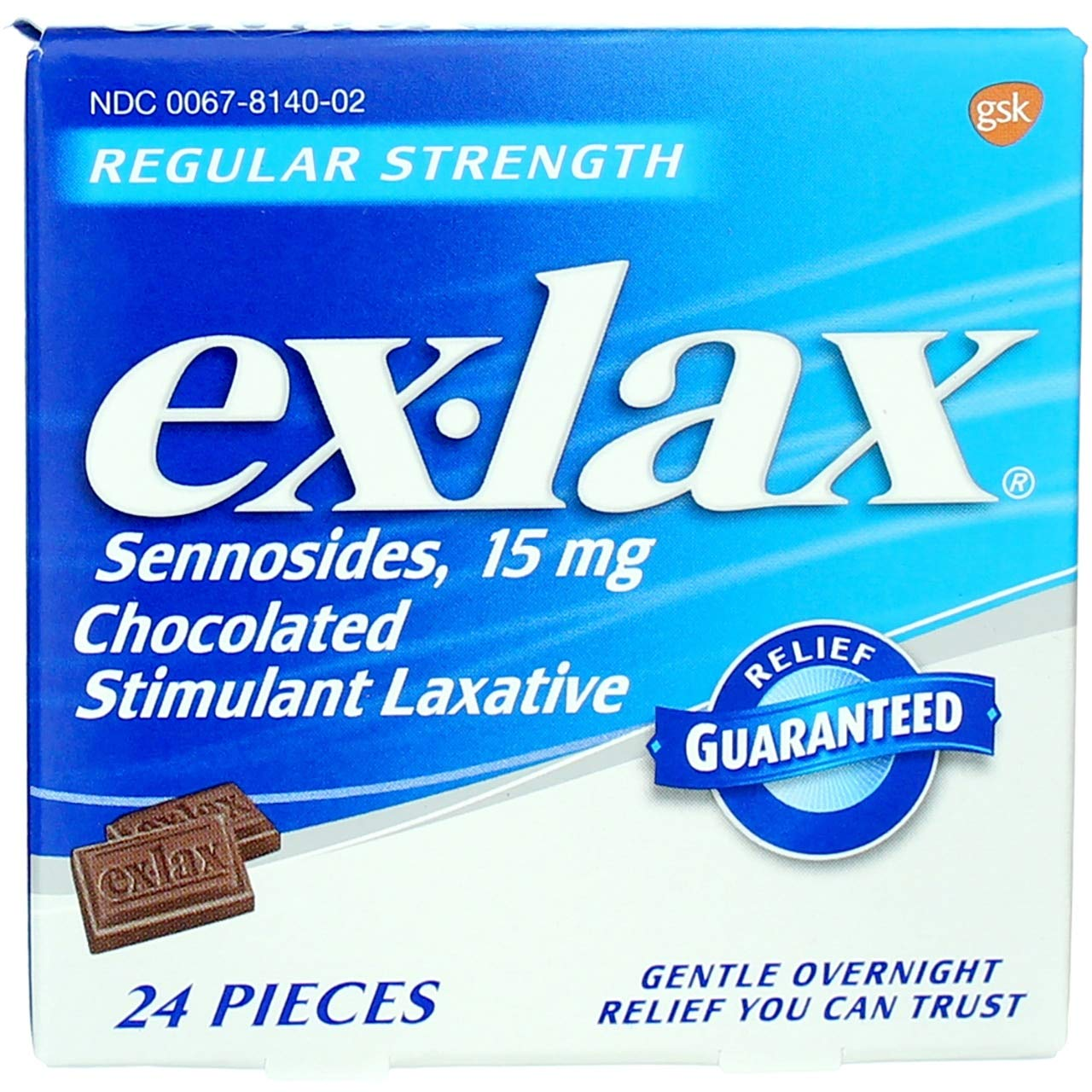 Ex-Lax Pieces Regular Strength 24 Each (Pack of 10)