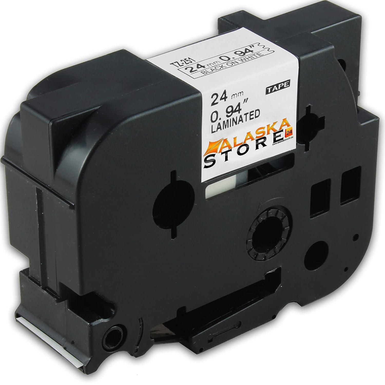 SCHRIFTBAND KASSETTE 24mm für BROTHER P 700 RL 700 TZE-251 TZE251 KASETTE