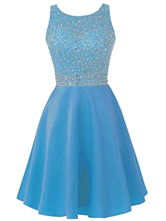 Solovedress Frauen wulstiges kurzes Ballkleid Satin Abendkleid ...