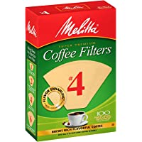 $20 » Melitta #4 Super Premium Cone Coffee Filters, Natural Brown, 100 Count (Pack of 6)