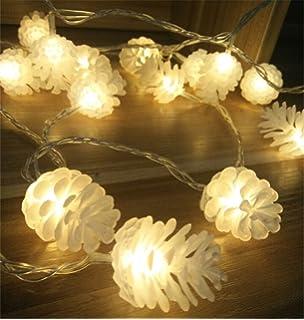 Lichterkette Mit Tannenzapfen Aus Glas Silber L 210 Cm