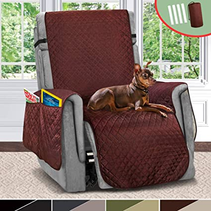 Incroyable Vailge Large Reversible Recliner Cover, Recliner Slipcover With 2u0026quot;  Strap/Pocket, Chair