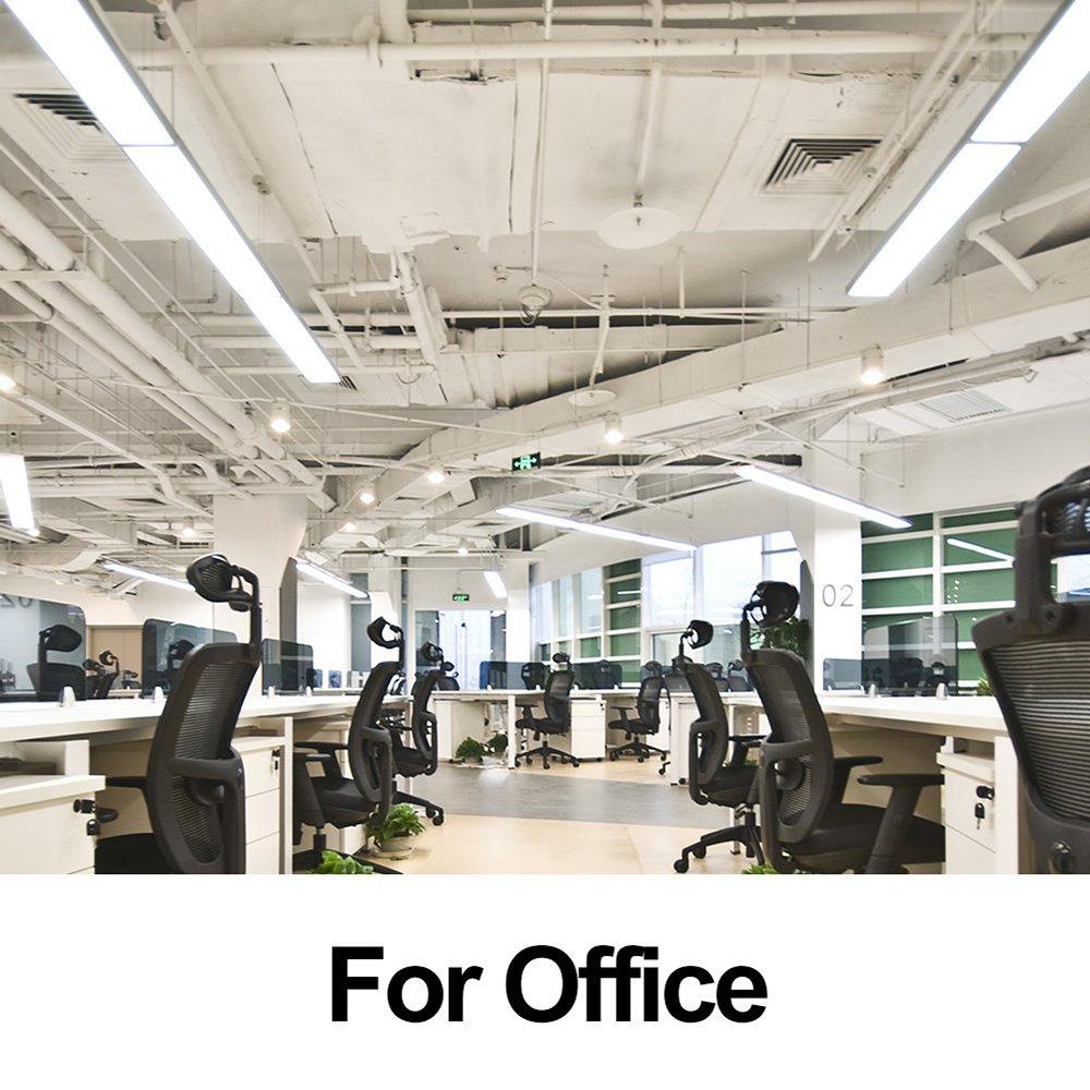 AntLux 72W LED Office Lights Ceiling 4FT LED Wraparound Light, 8000 Lumens, 4000K Neutral White, 4 Foot Flush Mount Wrap Shop Light Fixtures for Garage Workshop, Fluorescent Light Replacement, 4 Pack by ANTLUX (Image #5)