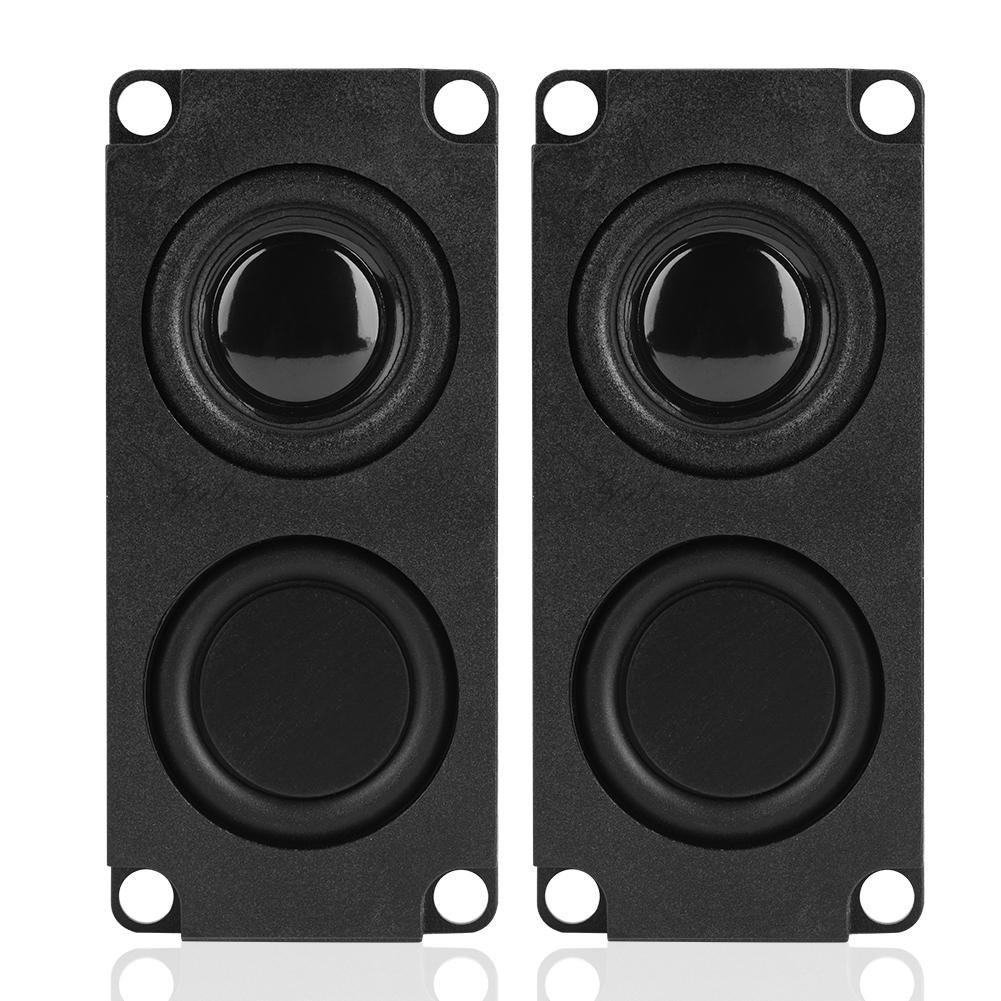 Zerone 8 Ohm 5W Interface Rectangle Speaker Audio Magnet Speaker Amplifier LED TV Speaker PC Computer Notebook Tablet Loudspeaker 2 Pcs