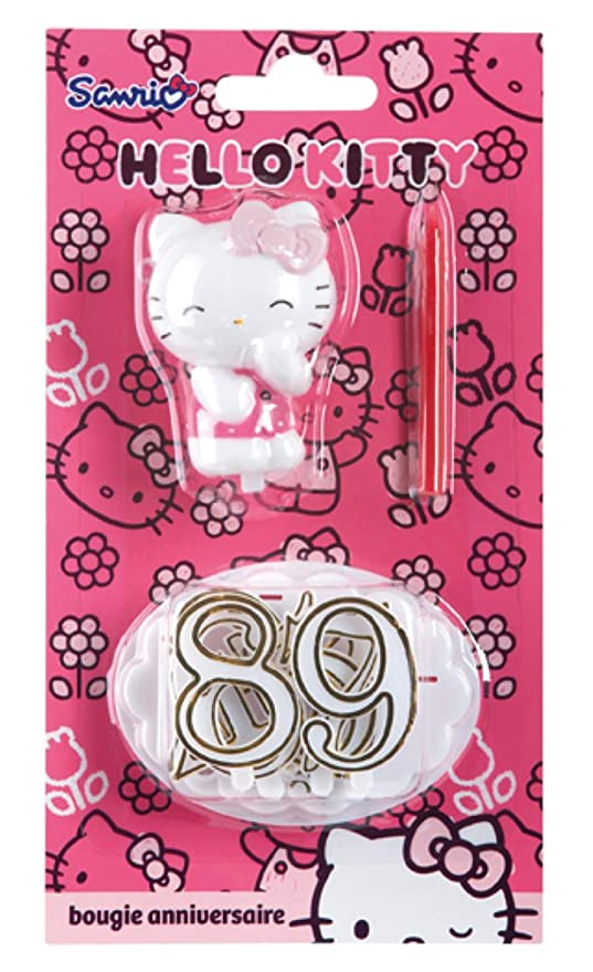 DEVINEAU 1019010 Hello Kitty-Vela de cumpleaños, diseño de ...