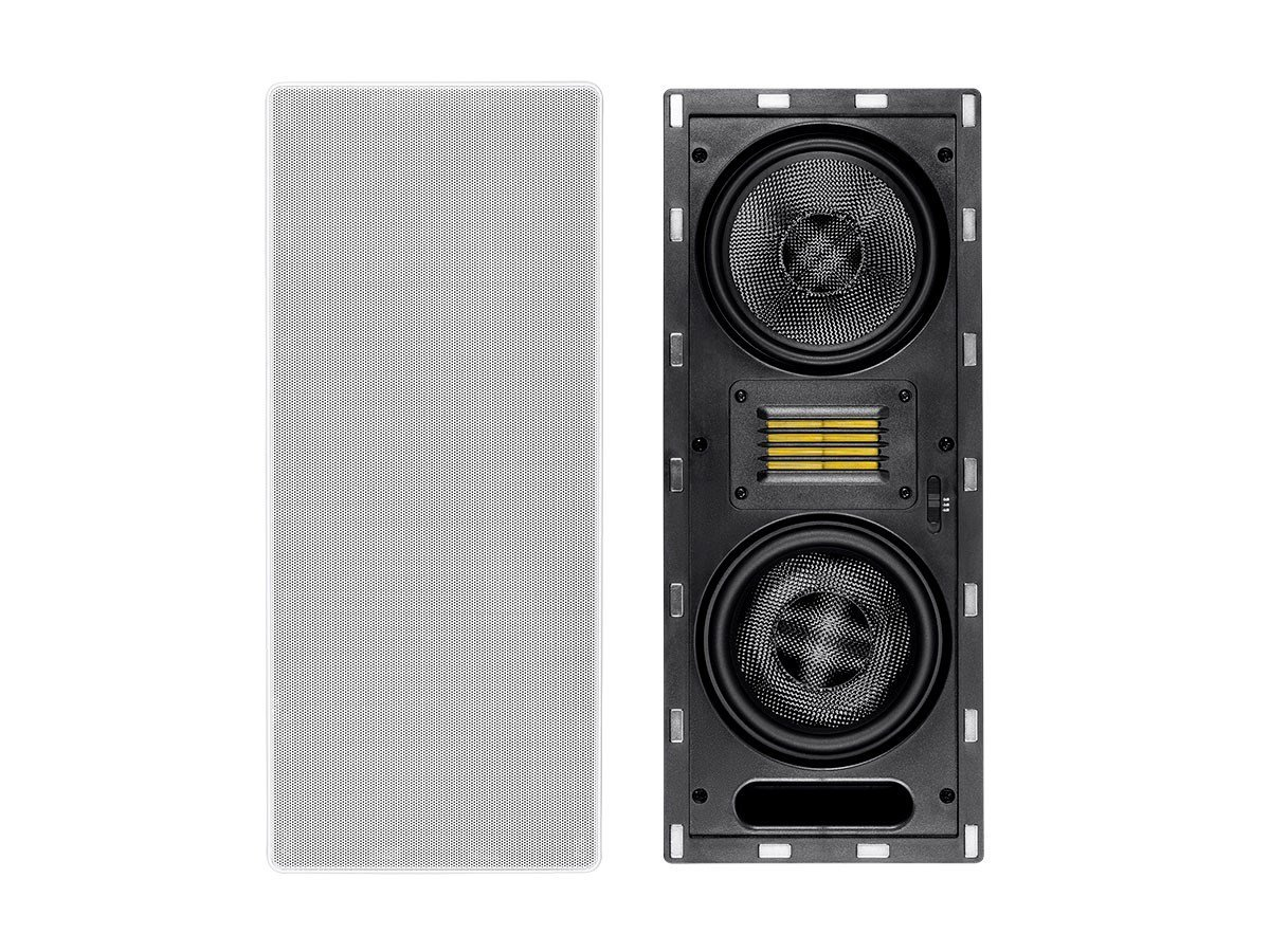 Monoprice Amber In-Wall Speaker 6.5-inch 3-way Carbon Fiber Column with Ribbon Tweeter (each) by Monoprice