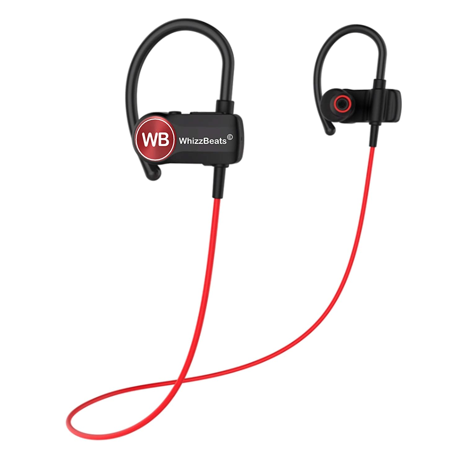 WhizzBeats Bluetooth Headphones IPX7 Waterproof, Wireless Sport Earbuds Bluetooth 4.1, Richer Base, HD Stereo Earphones w Mic, 9-11 Hrs Playback Noise Cancelling Headsets for Workout, Running, Gym