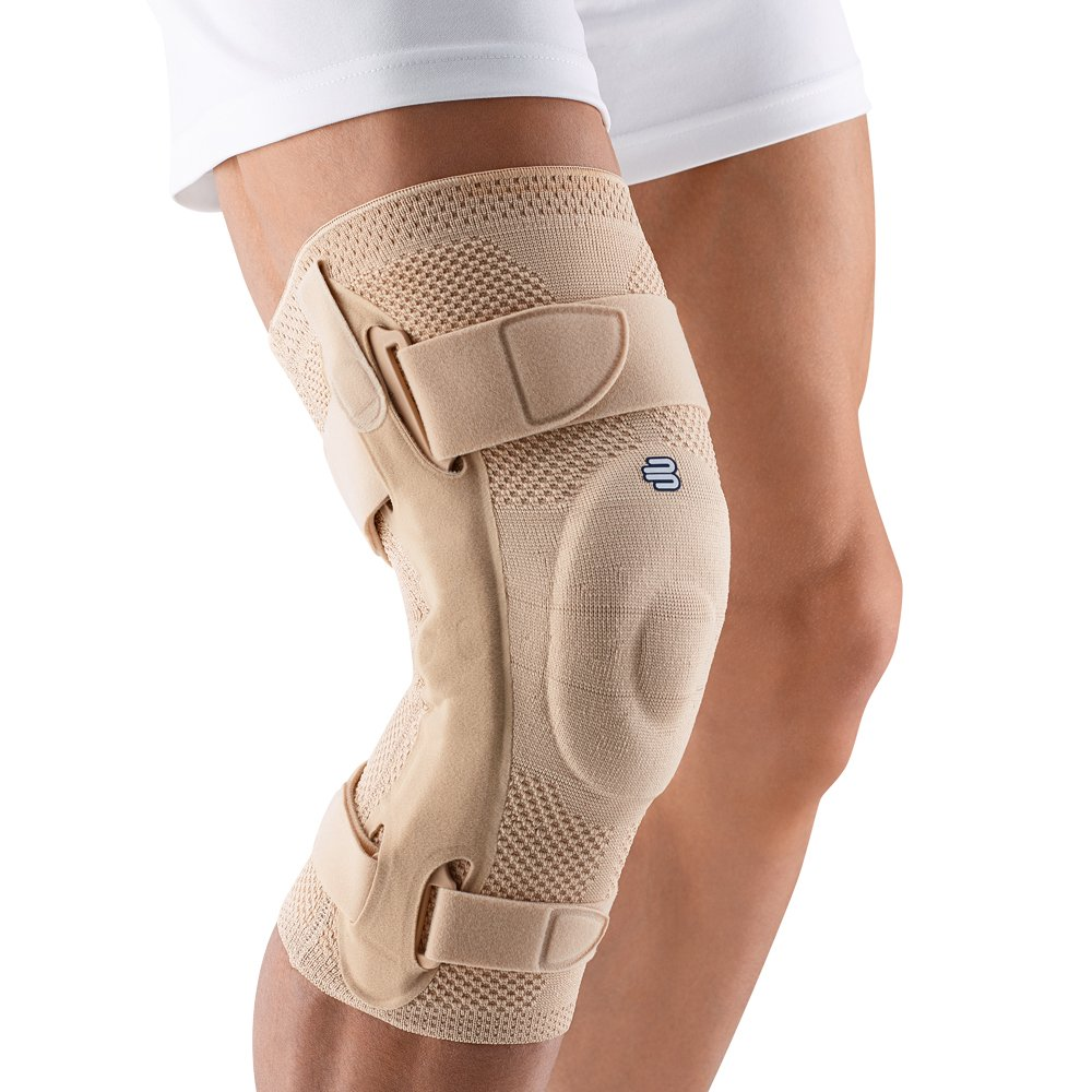 Bauerfeind 11041304010606 GenuTrain S Knee Support, Right, Size 6, 20-7/8''-22'' Circumference, Nature