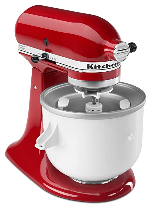 Kitchenaid Kica0wh Ice Cream Maker Attachment Excludes 7 8 And Most 6 Quart Models