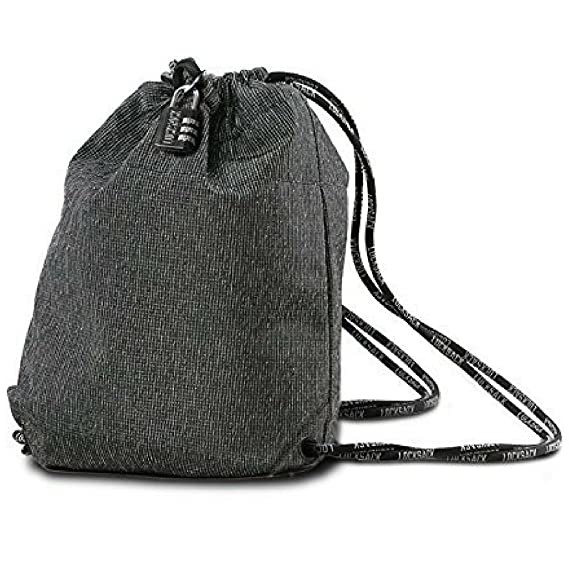 c9ee990aac163 LOCKSACK - Theft Resistant Drawstring Bag - the Perfect Theft Proof Travel  Backpack
