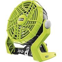 Ryobi 5133002612 ventilator R18F-0 zonder accu en oplader, 18 V, zwart, groen