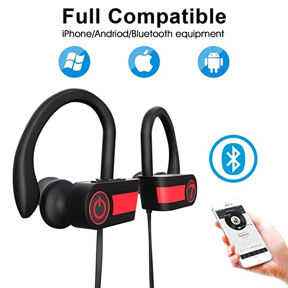 f320147ede5 Bluetooth Headphones for Women Wireless Sport Earbuds with Mic Stereo  in-Ear Sweatproof Headsets Noise