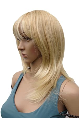 New Wig Perruque Multi Tonal Natural Honey Blonde And Bleach Blonde