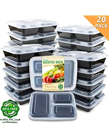 b4b28ffdcc Enther Meal Prep Containers [20 Pack] 36oz 3 Compartment with Lids, Food  Storage