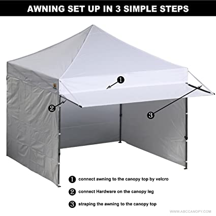 Amazon.com  ABCCANOPY 10x10 EZ Pop up Canopy Tent Instant Shelter Commercial Portable Market Canopy with With Full walls u0026 Awnings u0026 Wheeled bag Bonus 4 ...  sc 1 st  Amazon.com & Amazon.com : ABCCANOPY 10x10 EZ Pop up Canopy Tent Instant Shelter ...