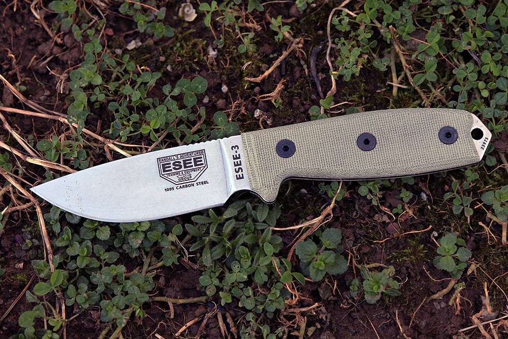 ESEE -3P Uncoated Blade & Sheath with Micarta Handles, Coyote Brown by ESEE (Image #1)
