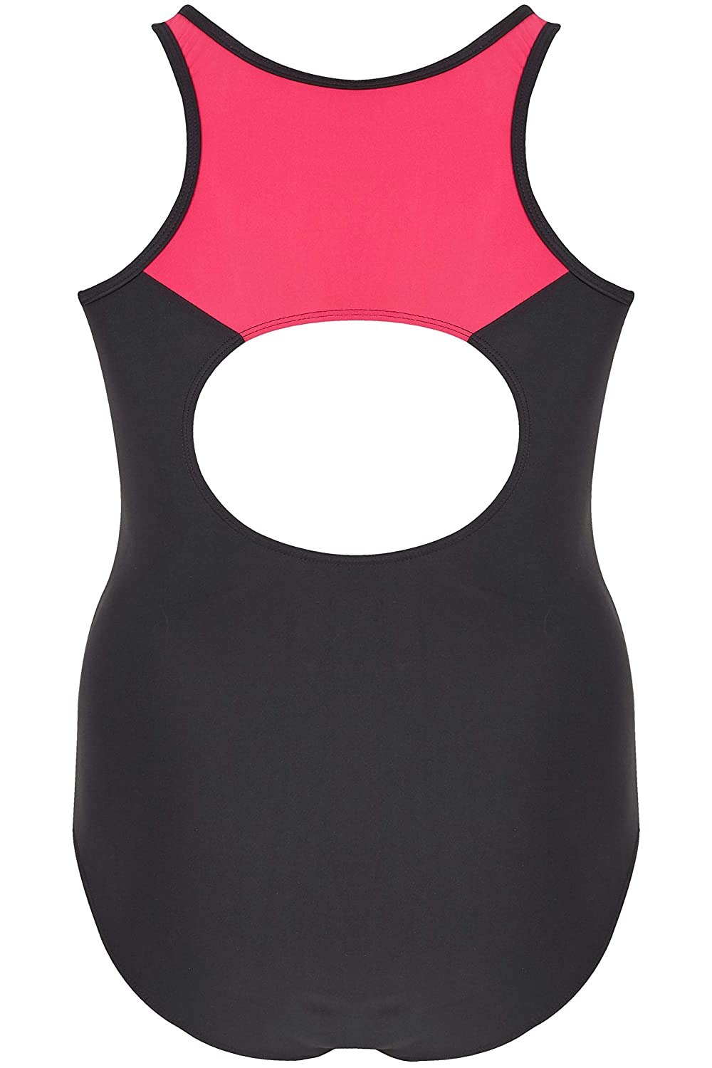 Yours Clothing Womens Contrast Contour Swimsuit