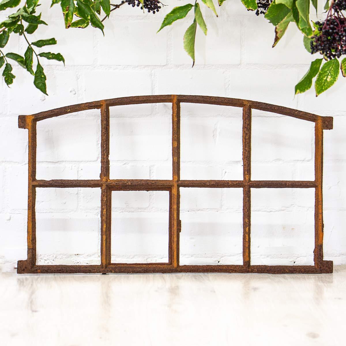 44,5 cm H/öhe ca Breite ca Antikas 74,5 cm als Stall-Fenster oder Garagenfenster Eisenfenster mit /Öffnung