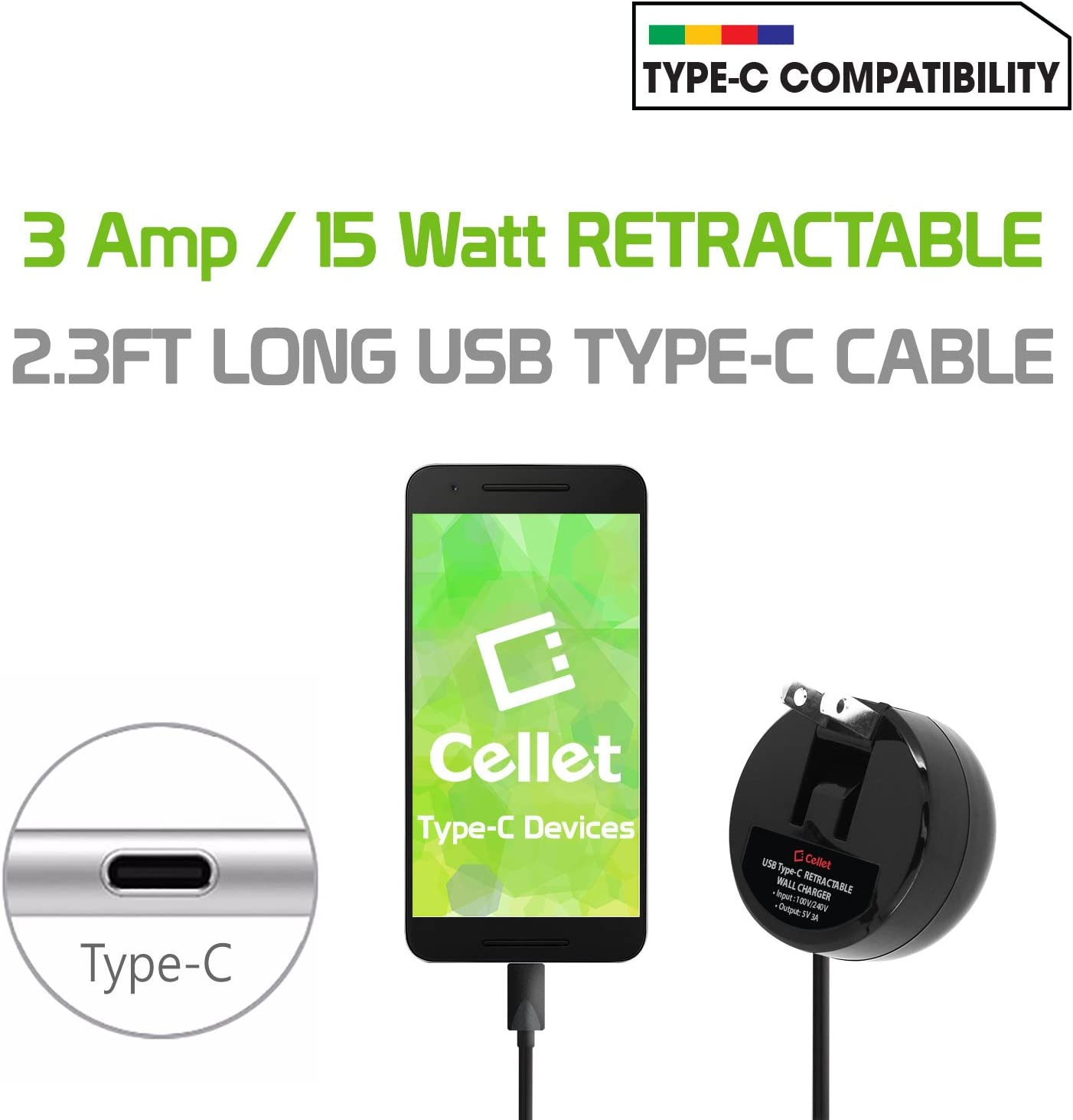 Compatible for Samsung Note 10 10 A50 A70 A80 A20 Fold Cellet Type-C Powerful Fast Charging Wall Charger Compact Retractable S9 3A//15W S9 Plus S8 S8 9 8 Galaxy S20 S10 S10e S10