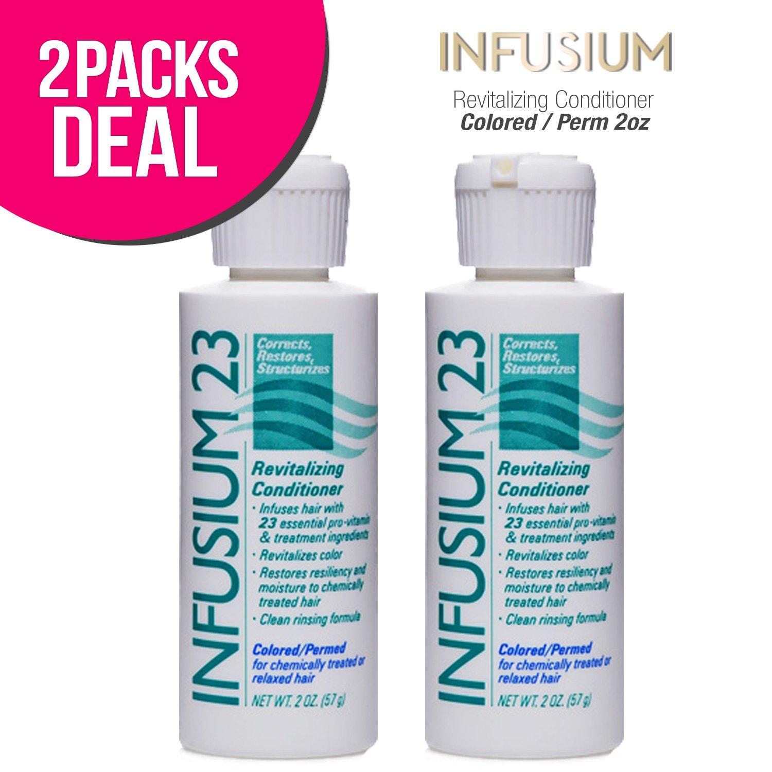(2 PACK) INFUSIUM 23 Revitalizing Conditioner-Colored/Permed 2oz