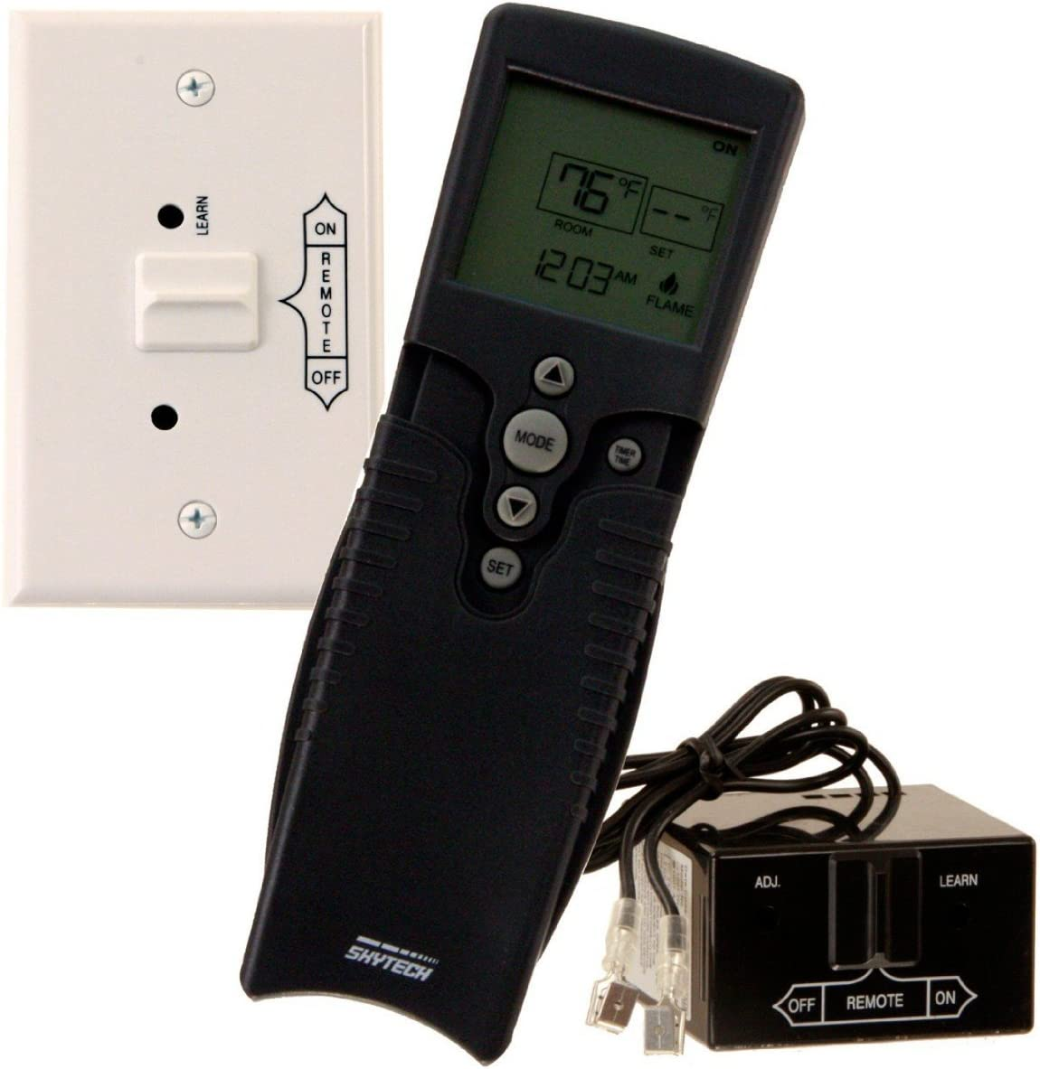 SkyTech 9800323 SKY-3002 Control with Timer Fireplace-remotes-and-thermostats, Black
