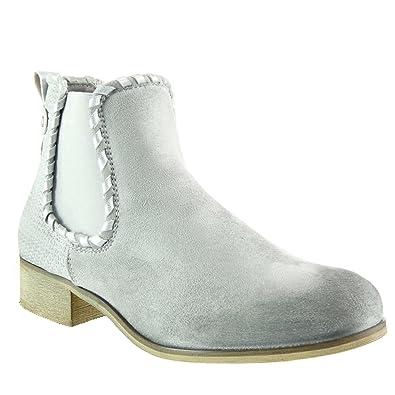 Zapatos grises de punta redonda Angkorly para mujer Clearance Footlocker Salida excelente QmZOTefWpE