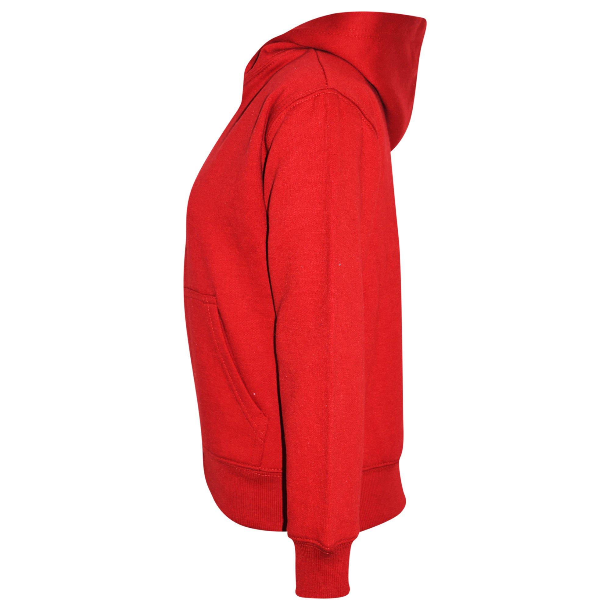 A2Z 4 Kids® Kids Jacket Girls Boys Plain Fleece Hoodie Zip Up Style Zipper 5-13