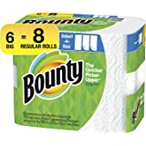 Bounty Select-A-Size Paper Towels, White, Big Rolls, 6 Count of 74 Sheets Per Roll