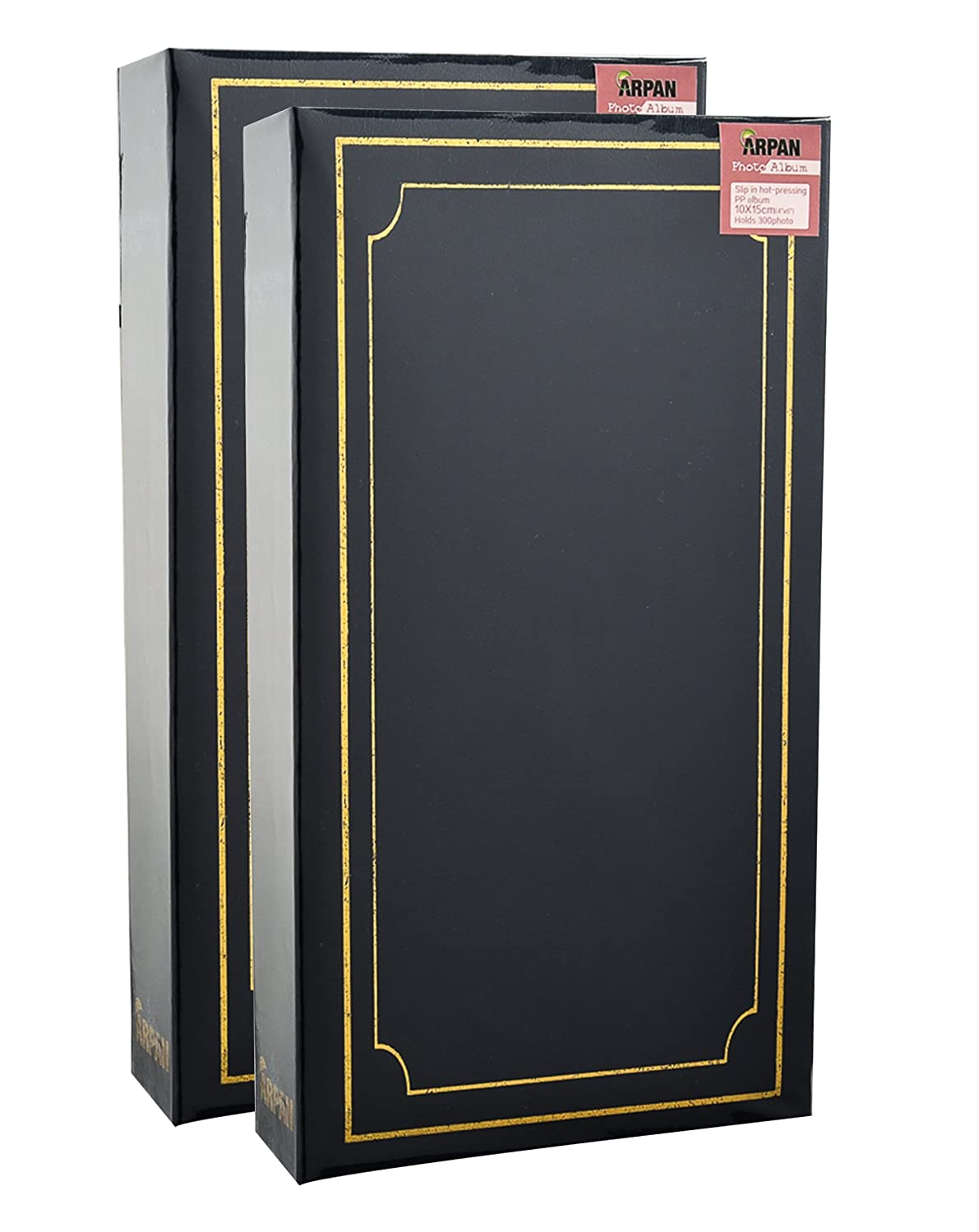 ARPAN Large Slip Album Holds 500 Photos 6/'/' x 4/'/' Gold Stamp Padded Cover...