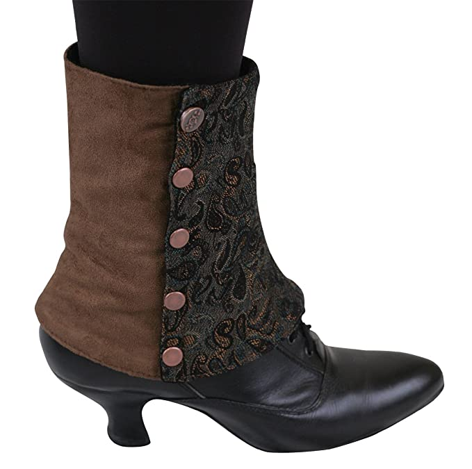 Ladies Victorian Boots & Shoes – Granny boots Womens Suede Spats $43.95 AT vintagedancer.com