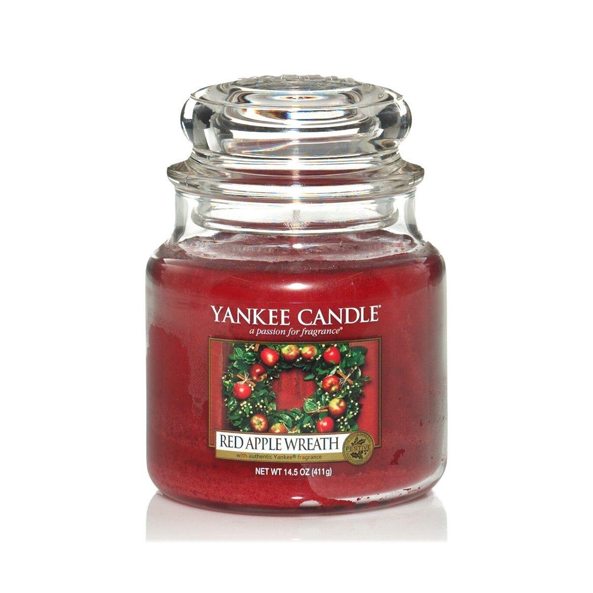 Yankee Candle Glaskerze, klein, Red Apple Wreath 1120699E