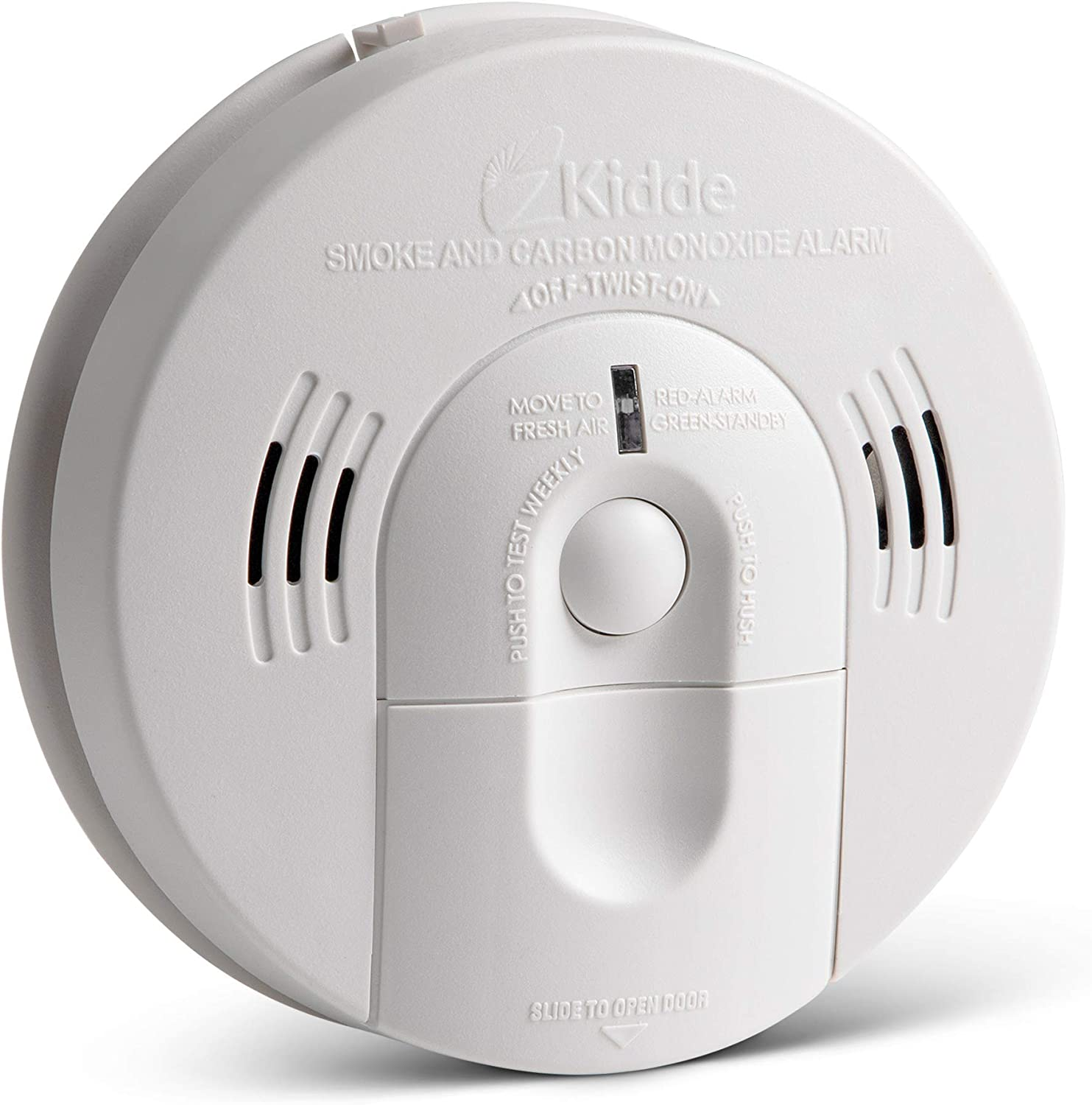 Kidde 21026043 Battery-Operated Not Hardwired Combination Smoke//Carbon Monoxide Alarm with Voice Warning KN-COSM-BA