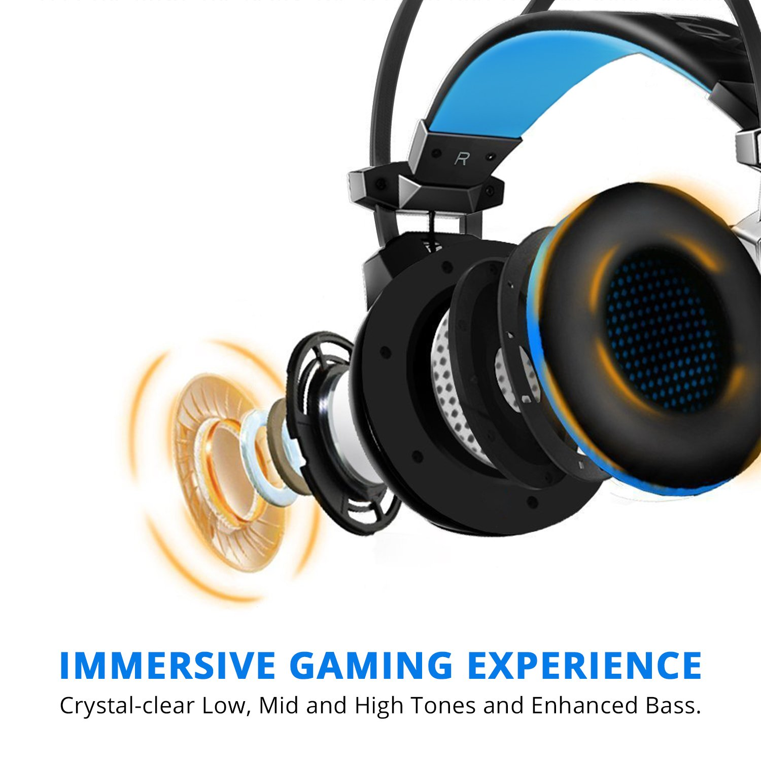 Amazon.com: Gaming Headset, iDeaUSA Virtual 7.1 Surround Sound ...