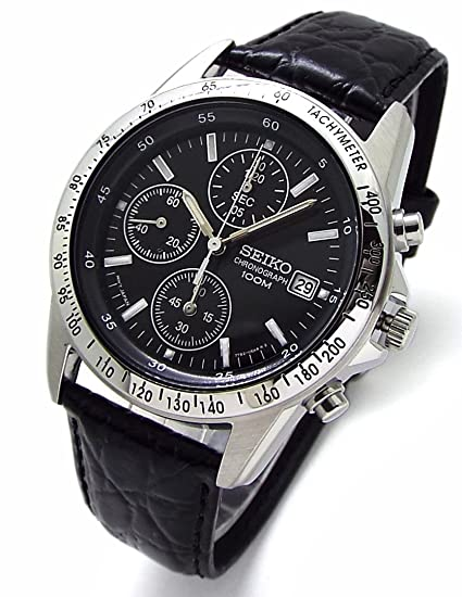 low priced b50c3 a6d56 SEIKO クロノグラフ 腕時計 本革ベルトセット 国内セイコー正規流通品 ブラック SND367P1 [並行輸入品]