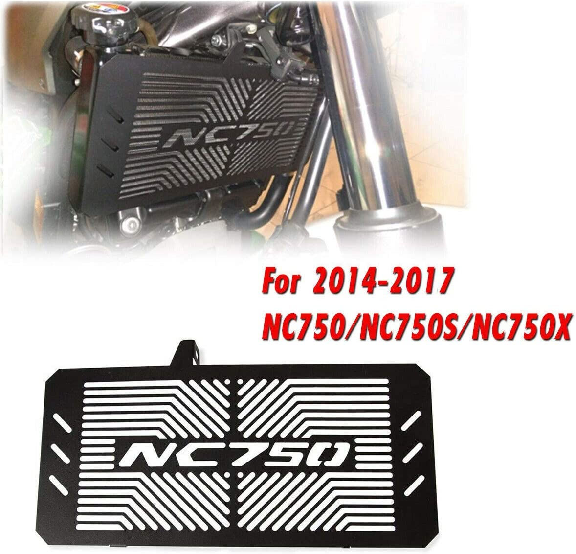 Andifany Motorcycle Radiator Protector Grill Guard Protective Cover for NC750 S X N 2014-17 Water Cooler Black