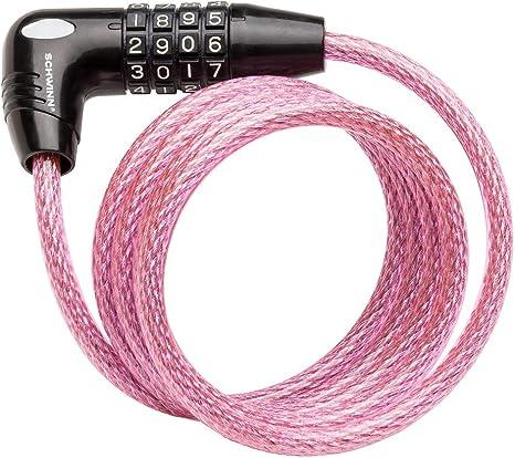 Pink Schwinn SW77862-3 Coil Combo Lock 5-Feet x 8mm
