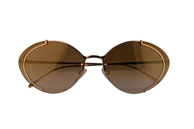 Amazon.com: Prada PR60US - Gafas de sol doradas con espejo ...